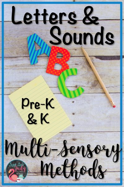Read this blog post about the multi-sensory introduction of letters and sounds. This approach links the name of the letter, the sound the letter stands for, and its formation. Try the multi-sensory way for teaching preschool and kindergarten children who would benefit from explicit instruction. #Multi-SensoryTeaching #LettersAndSounds