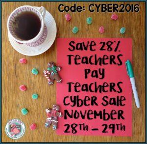 Teachers Pay Teachers Cyber Sale November 28th & 29th