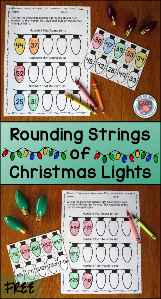 Enjoy this free, easy to prepare Christmas-themed rounding activity, perfect for second or third grade math! Choose rounding two-digit numbers to the nearest ten, three-digit numbers to the nearest ten, or three-digit numbers to the nearest hundred.