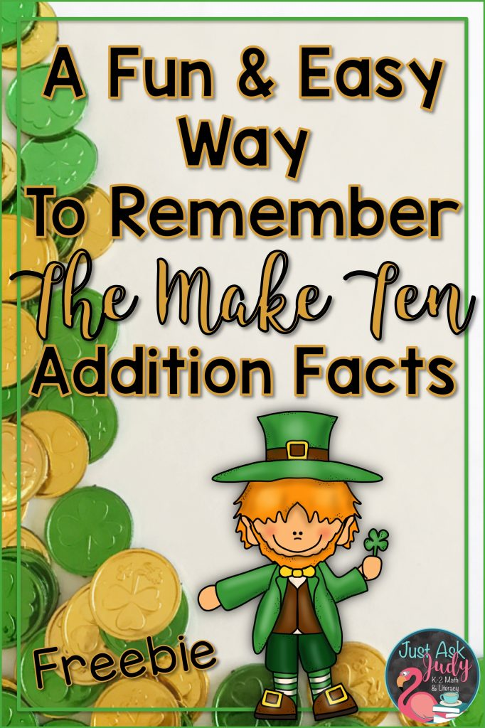 Give and Take Make Ten is a small group math game for learning, practicing, and reviewing the Make Ten addition facts in kindergarten, first, and second grades. This is a hands-on St. Patrick's Day themed game using counters and ten frames to provide concrete and visual support.