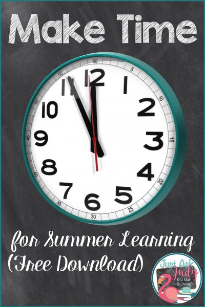 Make Time for Summer Learning (Free Download)