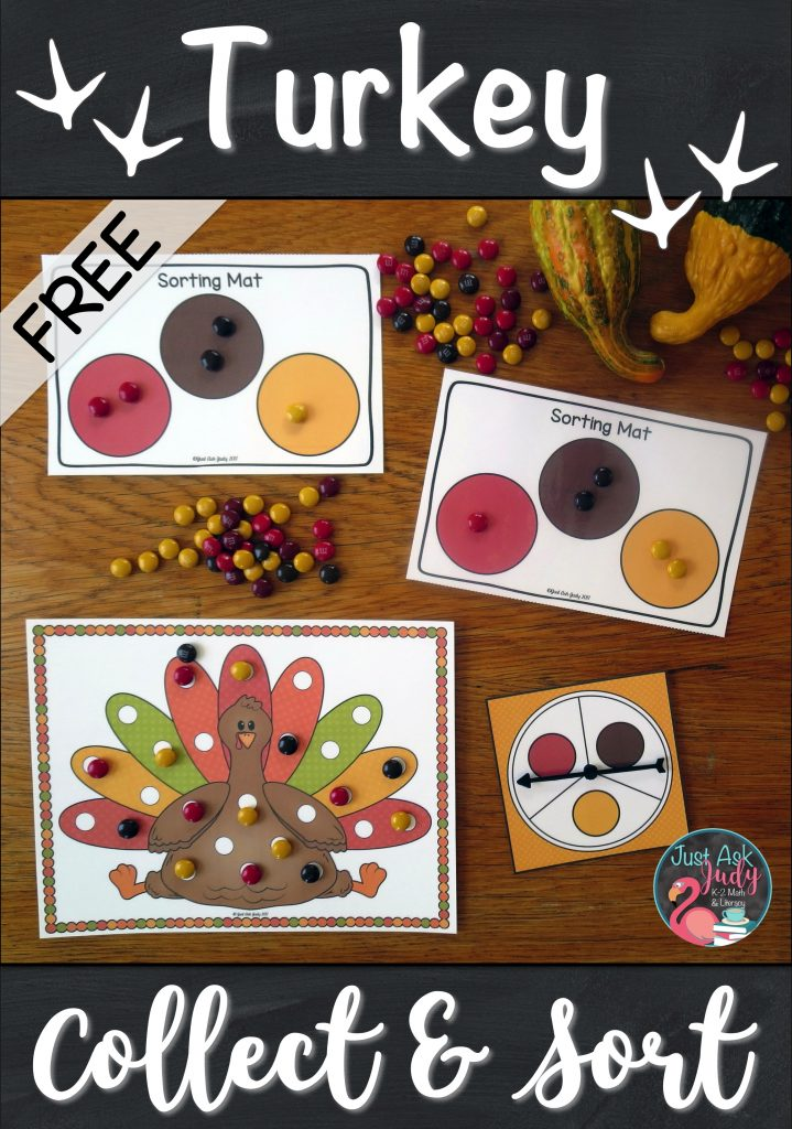 Check out this free partner activity, perfect for engaging your preschoolers, kindergarteners, and first graders. Provide opportunities for enhancing fine motor skills, matching or identifying colors counting, writing numbers, representing quantities on a ten frame or with tally marks, and graphing and comparing. #turkeys #KindergartenMath #TenFrames