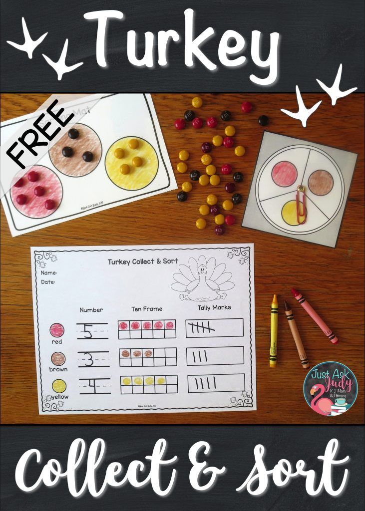Have fun while differentiating with this free turkey-themed partner activity, perfect for engaging your preschoolers, kindergarteners, and first graders. #Thanksgiving #KindergartenMath #turkeys