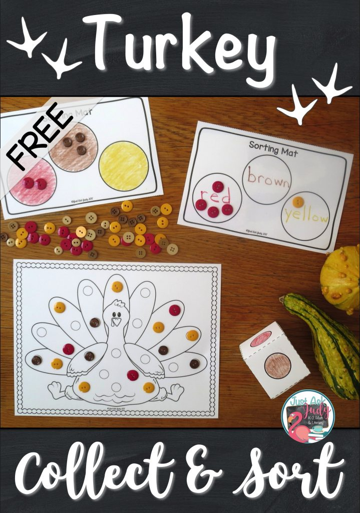 Read about this turkey-themed partner sorting and counting activity for preschool, kindergarten, and beginning first grade. Have fun and differentiate! #Thanksgiving #comparing #counting