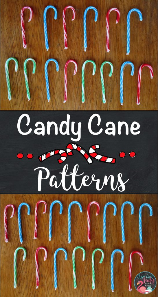Find a freebie for teaching repeating and growing patterns in this post about candy cane math activities.