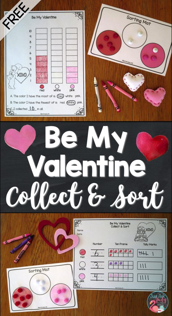 Check out this free Valentine's Day sorting activity, perfect for pre-school and kindergarten math.