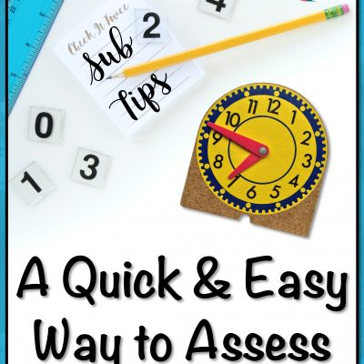 A Quick and Easy Way to Assess for Instruction
