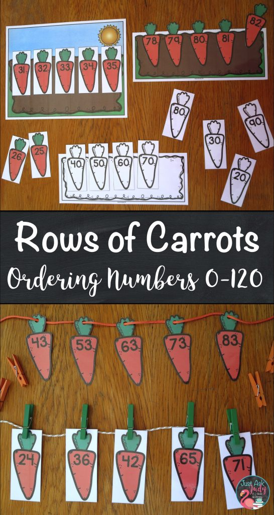Check out this open-ended carrot themed resource for sequencing numbers 0-120 in a variety of ways. It is perfect for kindergarten, first, and second grade math. It can be used for ordering sets of 5 or more consecutive or non-consecutive numbers and for counting by 5's, 10's, 2's or any multiple. $