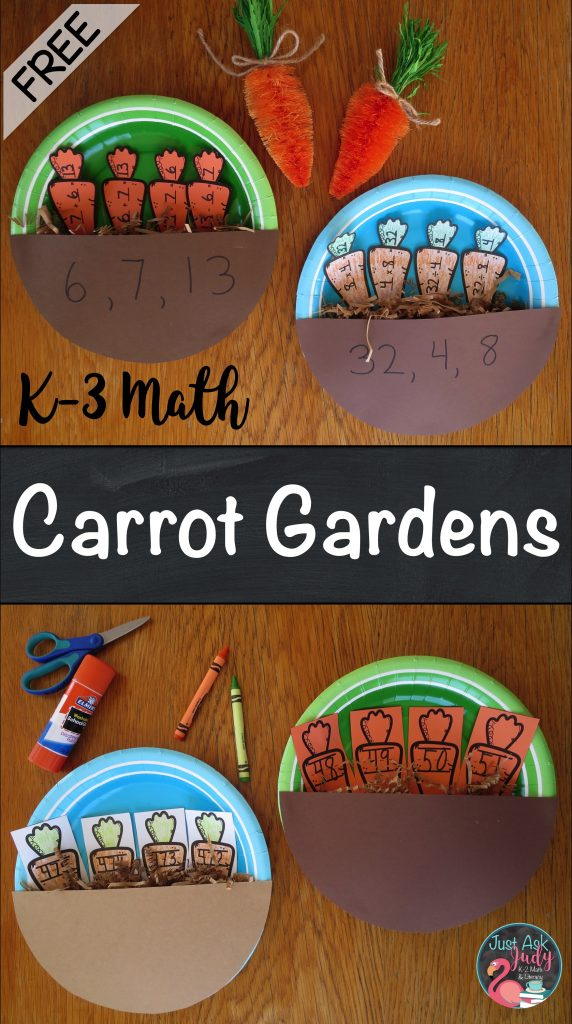 Click to discover how to create these math carrot gardens, perfect for reinforcing number sequences and fact families in kindergarten, first, second, and third grades.