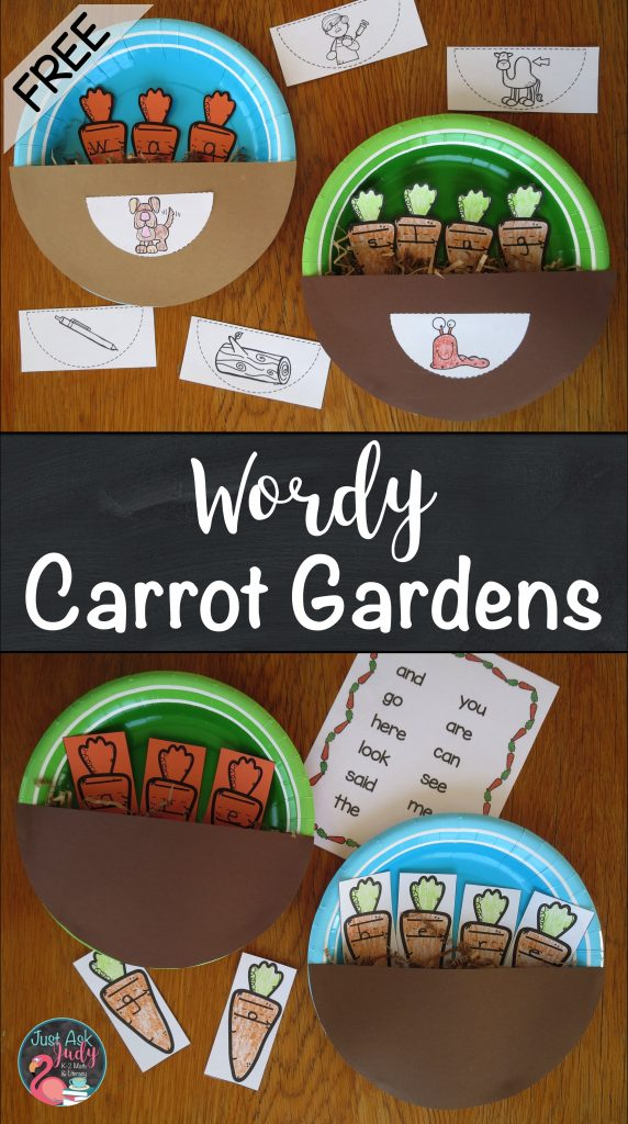 Create these engaging carrot gardens, ideal for reinforcing kindergarten and first grade literacy skills.