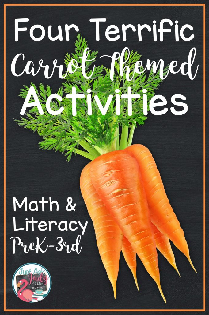 Check out this blog post highlighting four carrot themed math and literacy activities, perfect for preschool, kindergarten, first, second, and third grades.