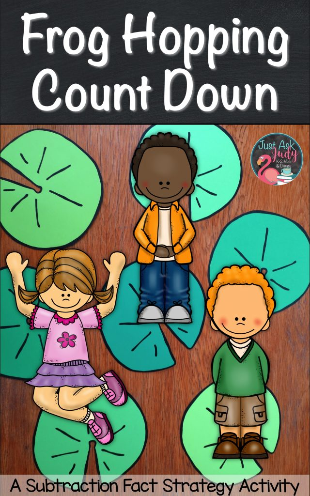 Click to discover a math activity for teaching the subtraction fact mental strategy for counting down 1, 2, or 3 that'll have your first and second-grade kids hopping around your classroom!