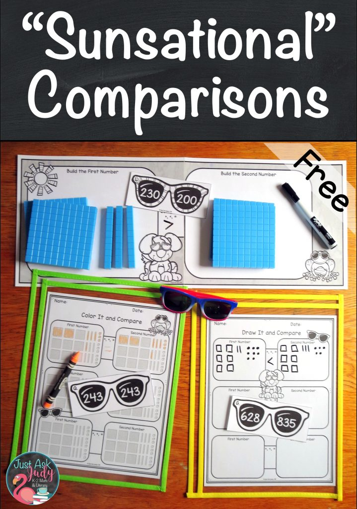 Check out this free resource for comparing three-digit numbers, crafted to meet the instructional needs of your second and third grade math students. #comparingnumbers #secondgrademath #3digitnumbers