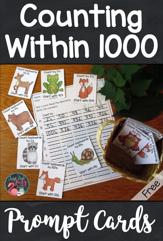 Try these free forest animal themed counting within a 1000 full-color prompt cards. They are the perfect addition to your counting routines for second and third-grade math. Use these prompt cards for choral counting, counting around the circle, or start and stop counting activities. #CountingWithin1000 #ForestAnimals #2ndGradeMath #3rdGradeMath #CountingRoutines