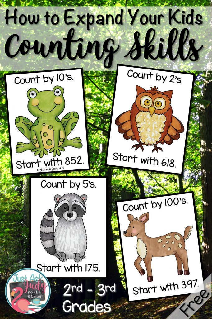 Check out these free forest animal themed counting within a 1000 full-color prompt cards that are the perfect addition to your counting routines for second and third-grade math. Use these prompt cards for choral counting, counting around the circle, or start and stop counting activities. #CountingWithin1000 #ForestAnimals #2ndGradeMath #3rdGradeMath #CountingRoutines