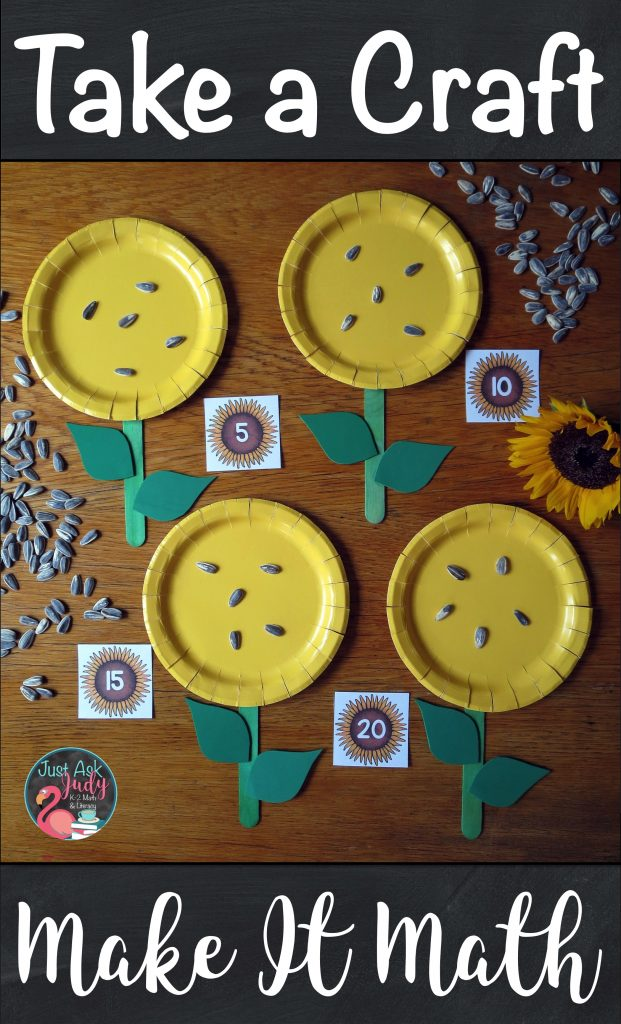 Check out this sunflower craft you can use to practice counting by any multiple in kindergarten, first, or second-grade. #sunflowers #CountBy's #FirstGradeMath #FallMathActivity
