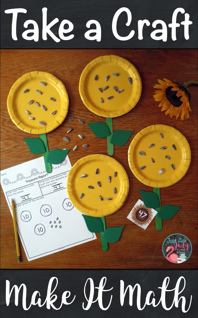 Have fun with math! Help your first and second-grade students to develop conceptual understanding of tens and ones with this sunflower math activity. #sunflowers #PlaceValue #TensAndOnes #FirstGradeMath
