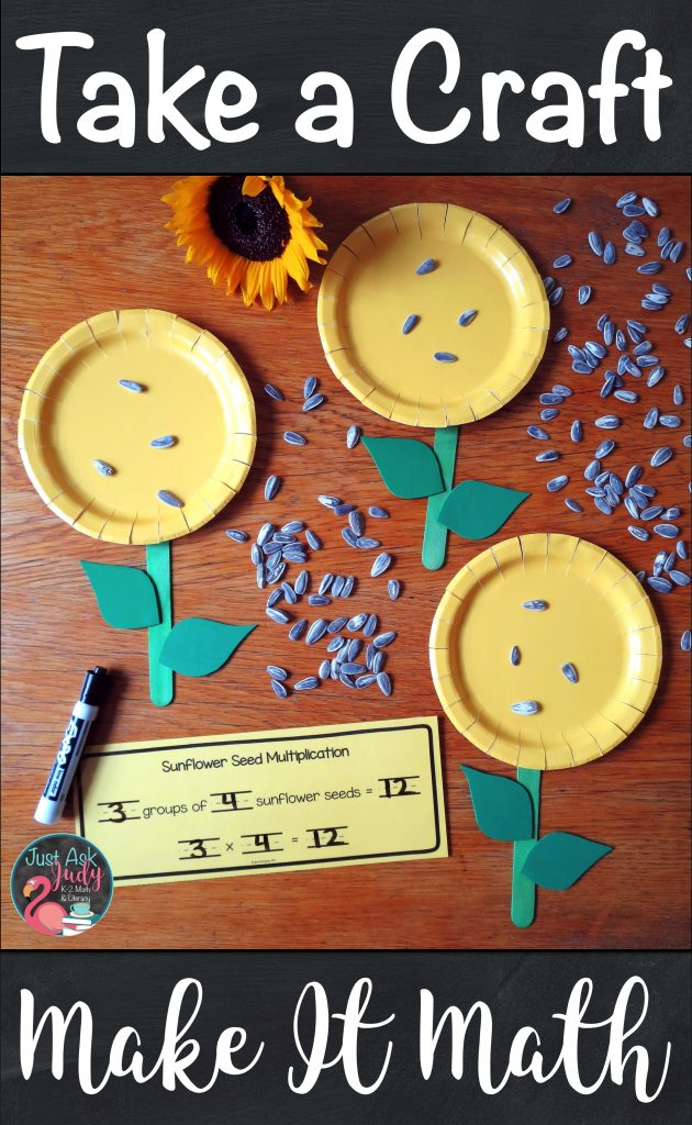 Let your 2nd and 3rd grade students demonstrate their understanding of the concept of multiplication with this sunflower craft. #sunflowers #MathActivity #Multiplication #SecondGradeMath