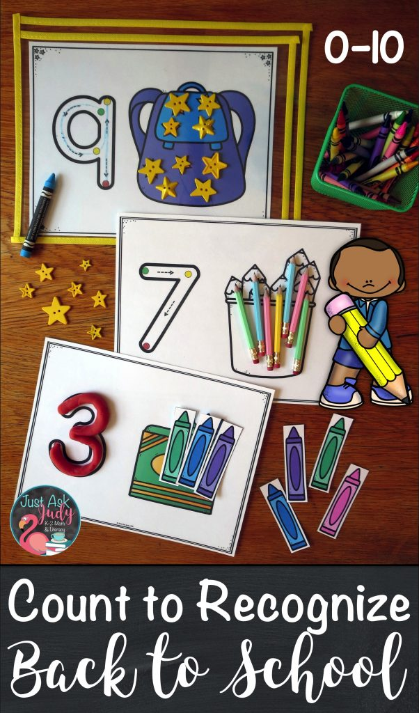 Start the year off with these easy to prepare school themed full-page number mats, 0-10, for preschool and kindergarten math. The three sets of mats are designed to develop skills in counting, numeral recognition, and numeral formation. These are, intentionally, very basic mats. #BackToSchool #School #NumberRecognition #CountingMats #PreSchoolMath #KindergartenMath