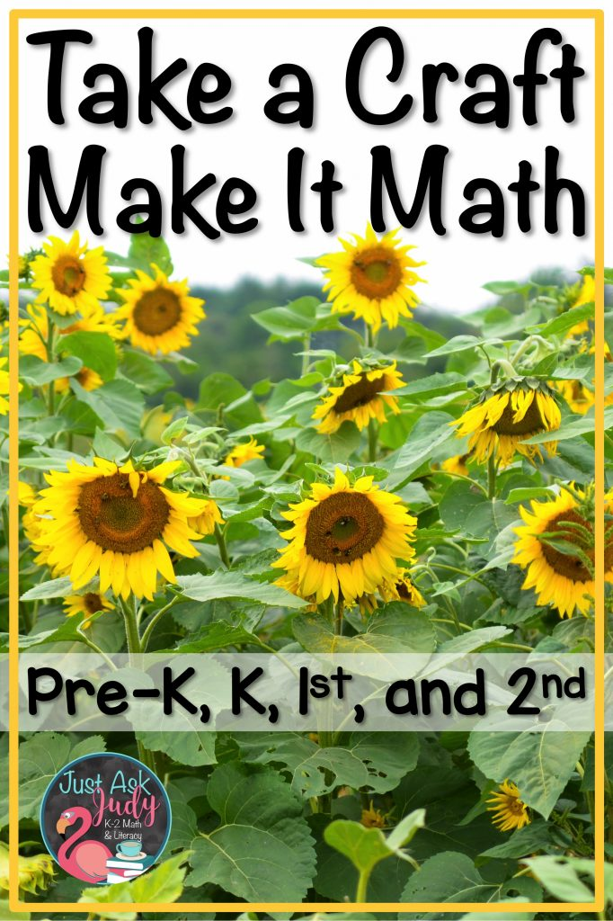 Read this post about a sunflower craft to practice math skills in preschool, kindergarten, first, and second grades. #sunflowers #MathActivity #Numbers0-10 #PlaceValue
