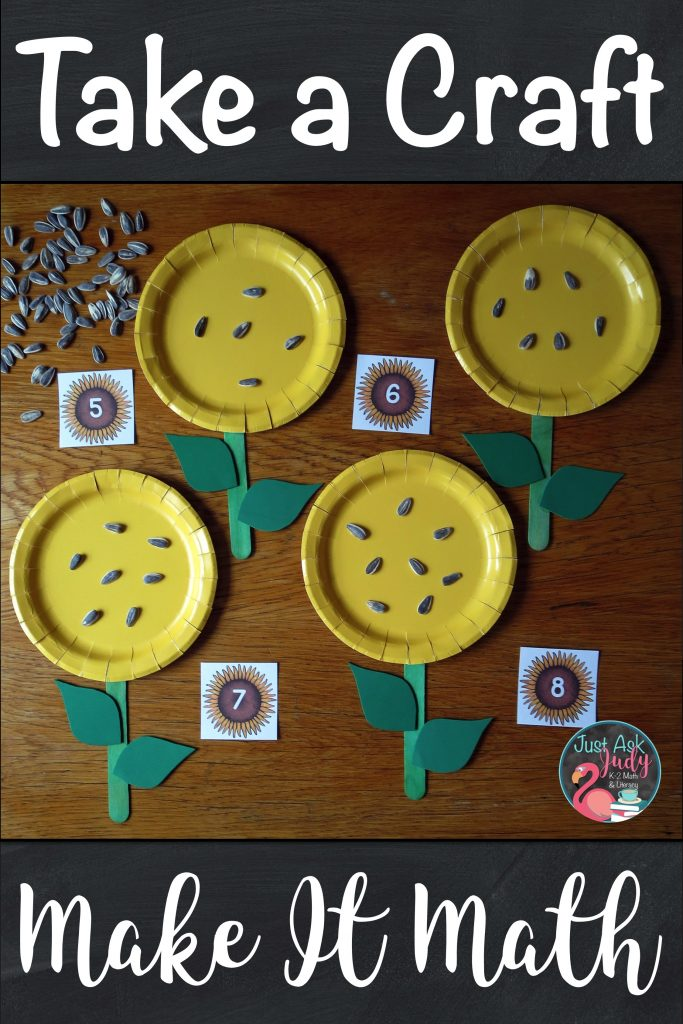 Use this sunflower craft to reinforce numeral recognition, one-to-one correspondence, and sequencing numbers. #PreschoolMath #PreschoolMath #sunflowers #Numbers0-10