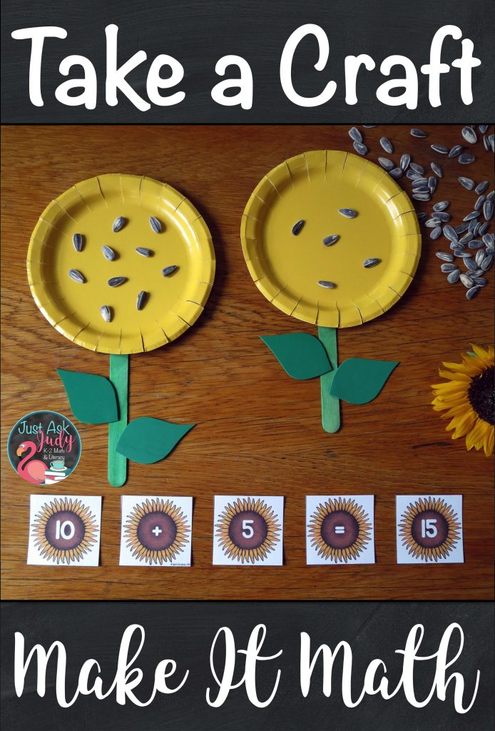 "Try this sunflower ""craftivity"" to reinforce understanding of teen numbers. It is perfect for kindergarten and early first-grade. #KindergartenMath #sunflowers #MathActivities #TeenNumbers"