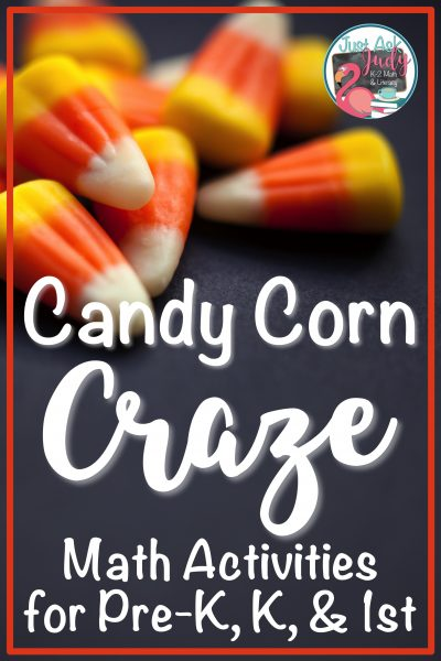 Find four engaging candy corn themed math activities, including a freebie, in this seasonal post! #CandyCorn #MathCenters
