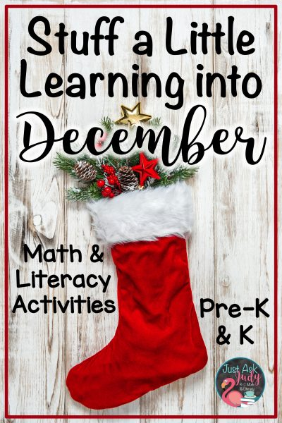 Find three Christmas stocking themed resources (including a freebie), ideal for engaging your preschoolers and kindergartners during December! #KindergartenMath #KindergartenLiteracy #DecemberActivities