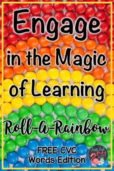 Read this blog post about a free rainbow themed activity to engage your kindergarten and first-grade students in reading CVC (3 letter short vowel closed syllable) words. #Rainbows #KindergartenLiteracy