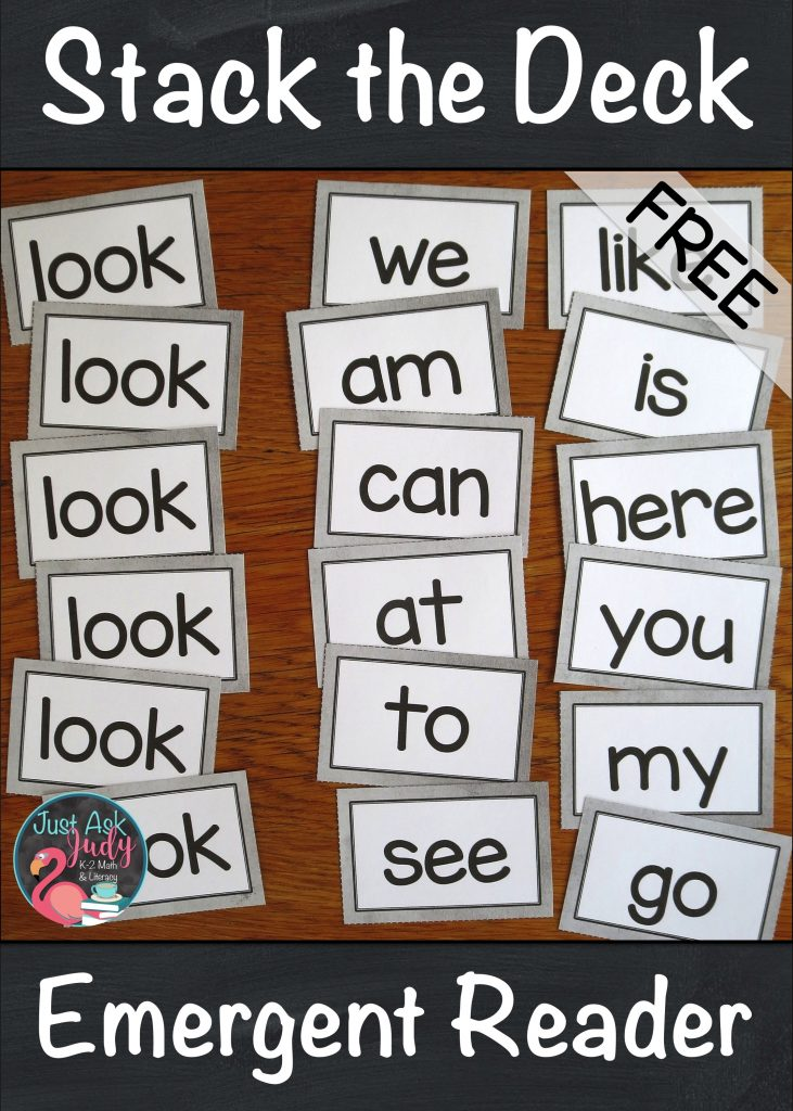 Try Stack the Deck with your kindergarten students to increase the odds for successful learning of high frequency words. Use it as part of your whole class introductory lessons or as an intervention activity to provide repetitive practice with individual or small groups of students who struggle sight word recognition. Hone in on one specific word at a time. #KindergartenLiteracy #SightWords