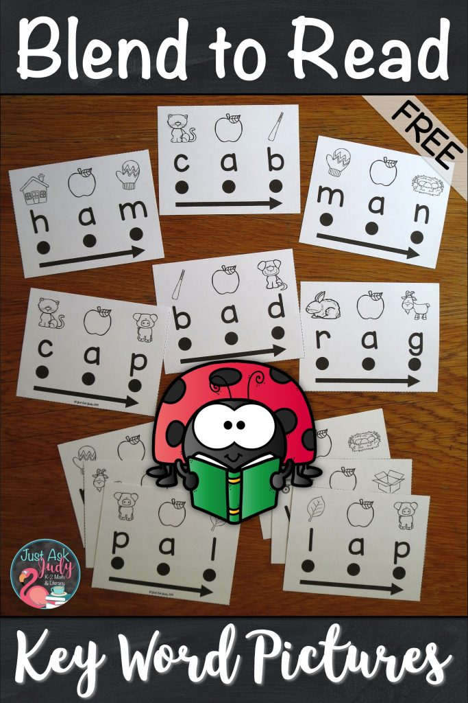 Download this free sample with 16 word cards designed to support beginning or struggling students as they learn to decode short a CVC words in kindergarten and first grade. With these word cards, there is no mystery to solve or puzzle to figure out. There is a specific key word picture for easy reference above each letter to assist your students with letter-sound correspondence. #CVCWords #KindergartenPhonics