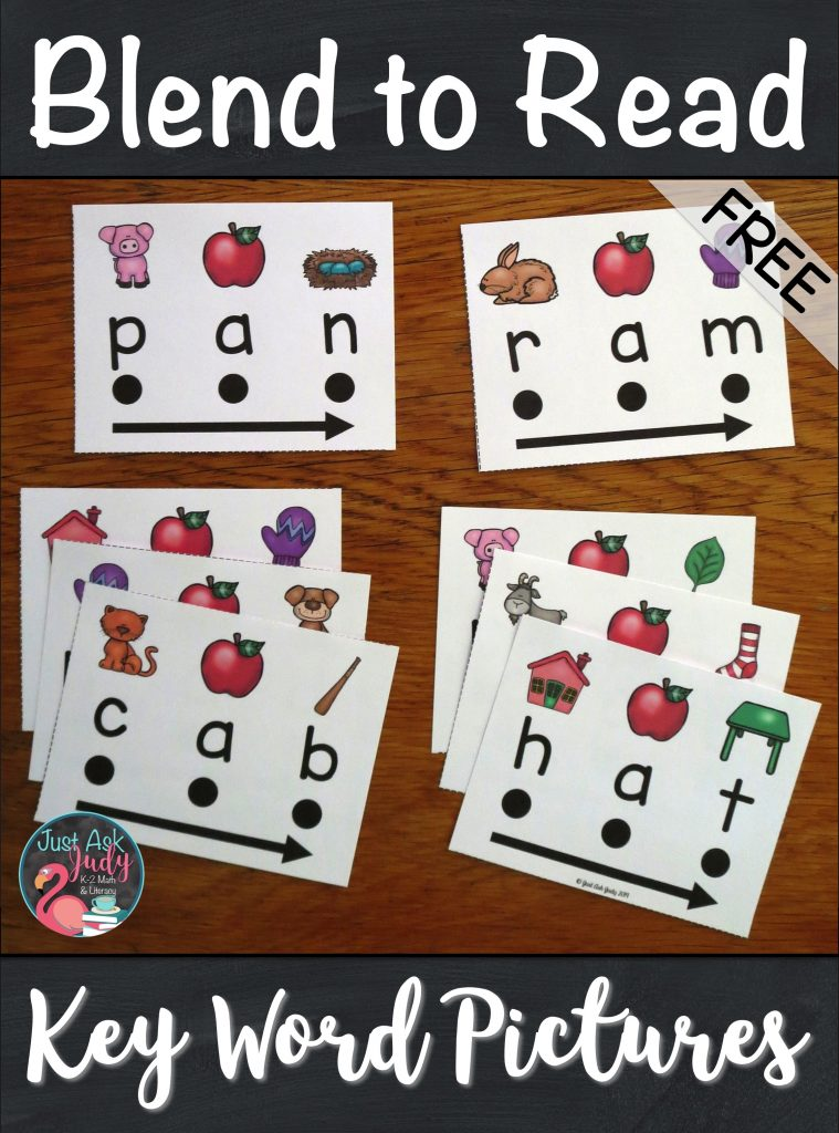Try out this free sample with 16 word cards designed to support beginning or struggling students as they learn to decode short a CVC words in kindergarten and 1st grade. With these word cards, there is no mystery to solve or puzzle to figure out. There is a specific key word picture for easy reference above each letter to assist your students with letter-sound correspondence. #FirstGradeLiteracy #Decoding