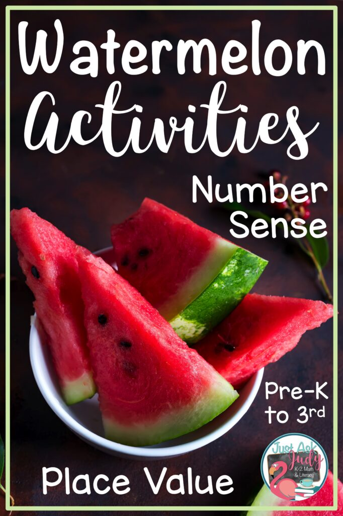 "Find four free watermelon ""seed"" math activities to boost your students' number sense and place value skills. #WatermelonDay #NumberSense #PlaceValue"
