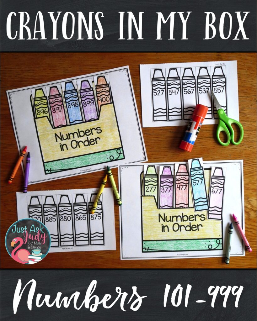 Do you need an easy to prepare activity for your second or third-grade math students to practice and review ordering 3 digit numbers? Individualize your instruction with this engaging color, cut, and glue activity. #MathActivity #SequencingNumbers #2ndGradeMath
