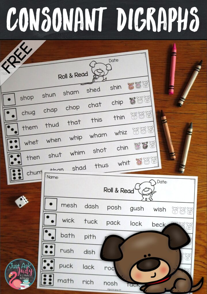 Engage your students with this free game-like activity for practicing their decoding skills in kindergarten, first, and second grades! #Digraphs #1stGradeLiteracy