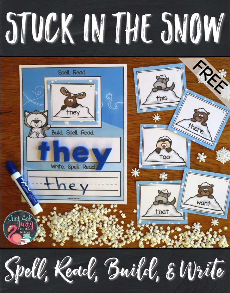 Check out this free set of 36 primer level word cards and mat with a snow theme. Use it to help your kindergarten and 1st grade students practice spelling and reading these important high-frequency words. Try it as part of your small group instruction or in a literacy center. #Winter #FirstGradeLiteracy #SightWords