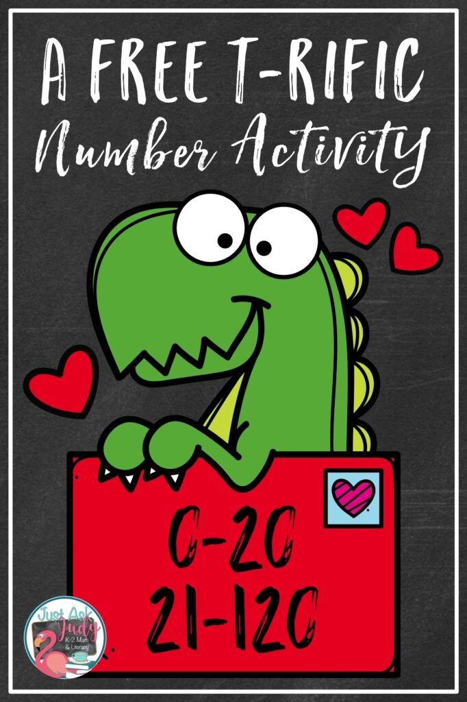 Engage your kindergarten, first and second-grade math students with this free valentines-themed partner or small group number activity. Give them practice determining the number right before and the number right after a given number 0-20 or 21-120. #Math Stations #Valentine'sDay #dinosaurs