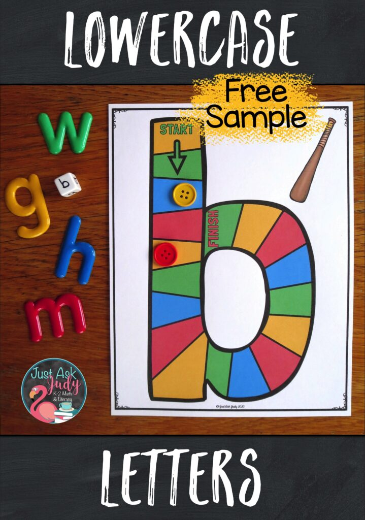 Download a free sampler of my lowercase letter game boards. These games will support your preschool, kindergarten, or struggling students as they learn to recognize letters.