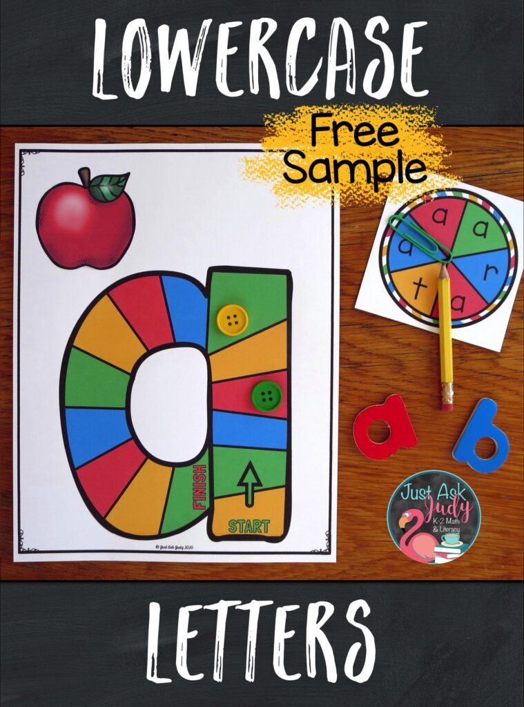 Try out a free sample of these lowercase letter game boards. These partner games are designed to support your preschool, kindergarten, or struggling students as they learn to recognize letters. The focus is on providing repetitive practice with recognizing a single letter.