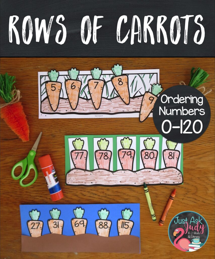 Make learning fun with this easy to prepare color, cut, and glue carrot-themed math activity! Find a variety of ready to use number sequences perfect for your kindergarten, first, and second-grade math students.