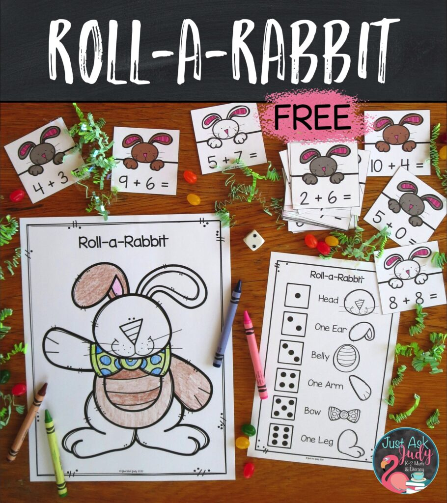 Try this engaging rabbit-themed small group activity to help your kindergarten, first, and second-grade students develop fluency in adding basic facts.