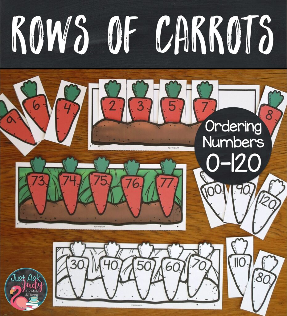 Add this engaging carrot-themed resource for sequencing numbers 0-120 in a variety of ways to your math centers. Give your kindergarten, 1st, and 2nd grade math students individualized practice.