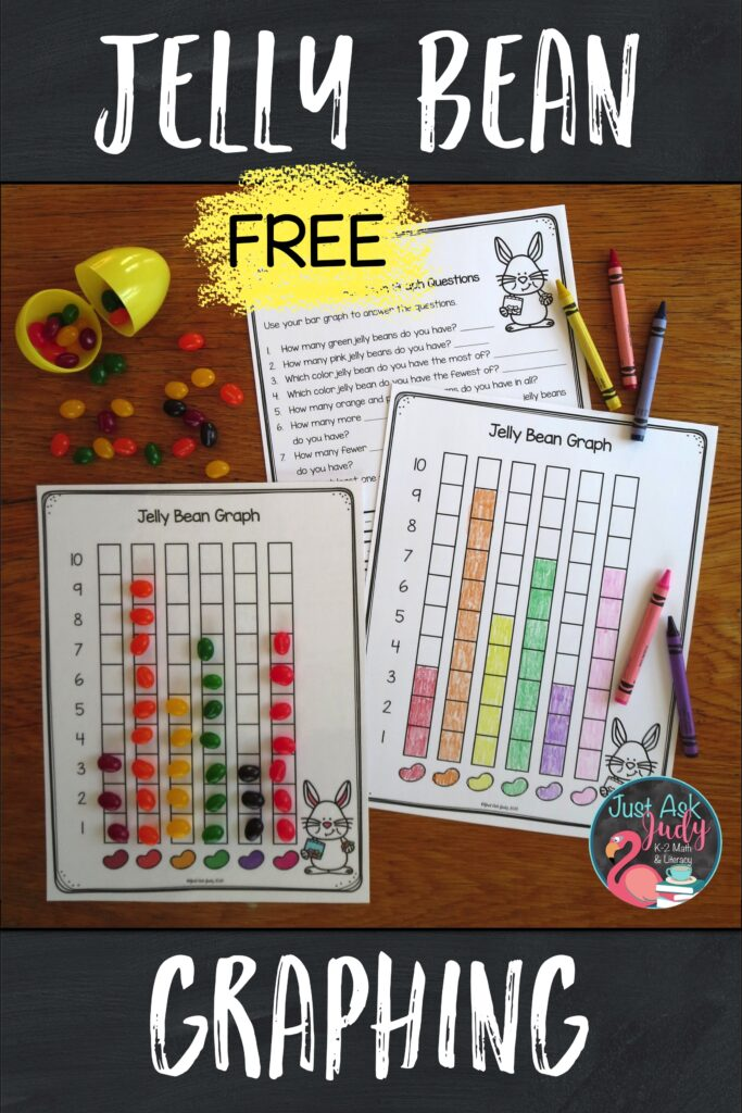 Have a little tasty fun graphing with jelly beans. Try this free math activity with your preschoolers, kindergarteners, first, and second graders.