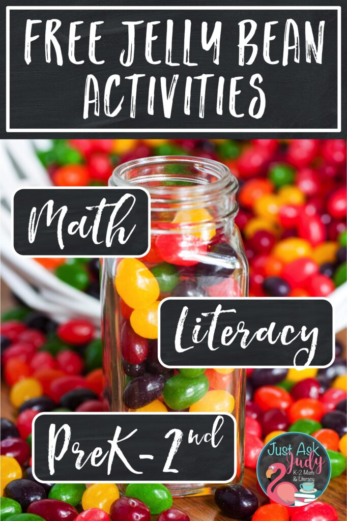 Here's a free set of jelly bean themed math and literacy activities, perfect for home or school. Try these engaging activities with preschoolers, kindergarteners, first, and second graders for Easter, National Jelly Bean Day (April 22nd), or anytime.
