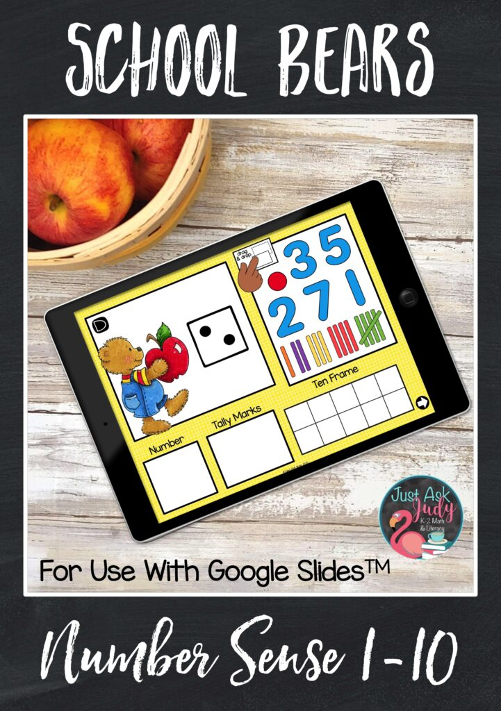 Check out this school bear themed number sense resource for Google SlidesTM . This drag and drop digital math resource is ideal for use in preschool and kindergarten.