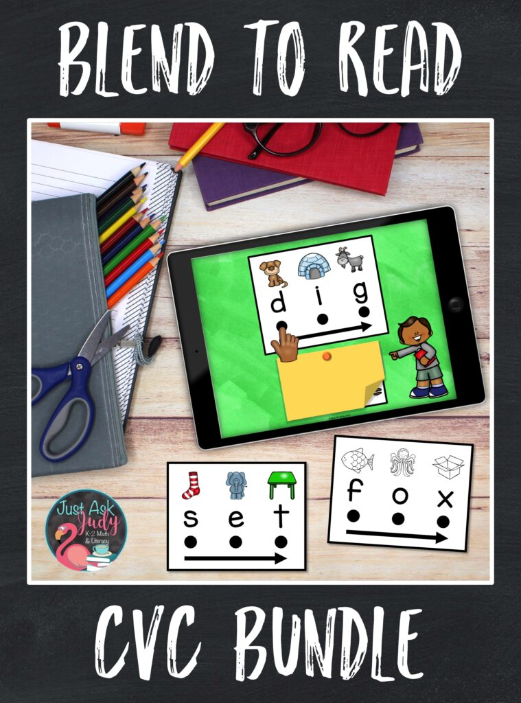 Discover a money-saving bundle of two phonics resources, one digital resource for use with Google SlidesTM and one activity to print. Both resources are designed to support beginning or struggling students as they learn to decode CVC words in kindergarten and 1st grade.