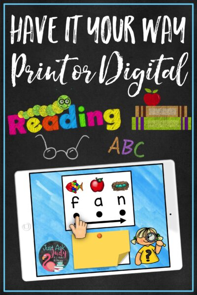 Find a print and a digital version of a resource designed to support beginning or struggling readers as they learn to decode CVC words in kindergarten and first grade. Try the free samples!