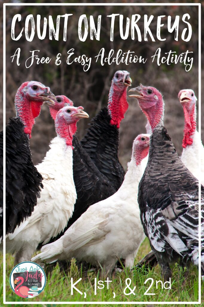 Find a free and easy addition strategy Thanksgiving activity. It's the perfect for engaging your kindergarten, first, and second grade math students.