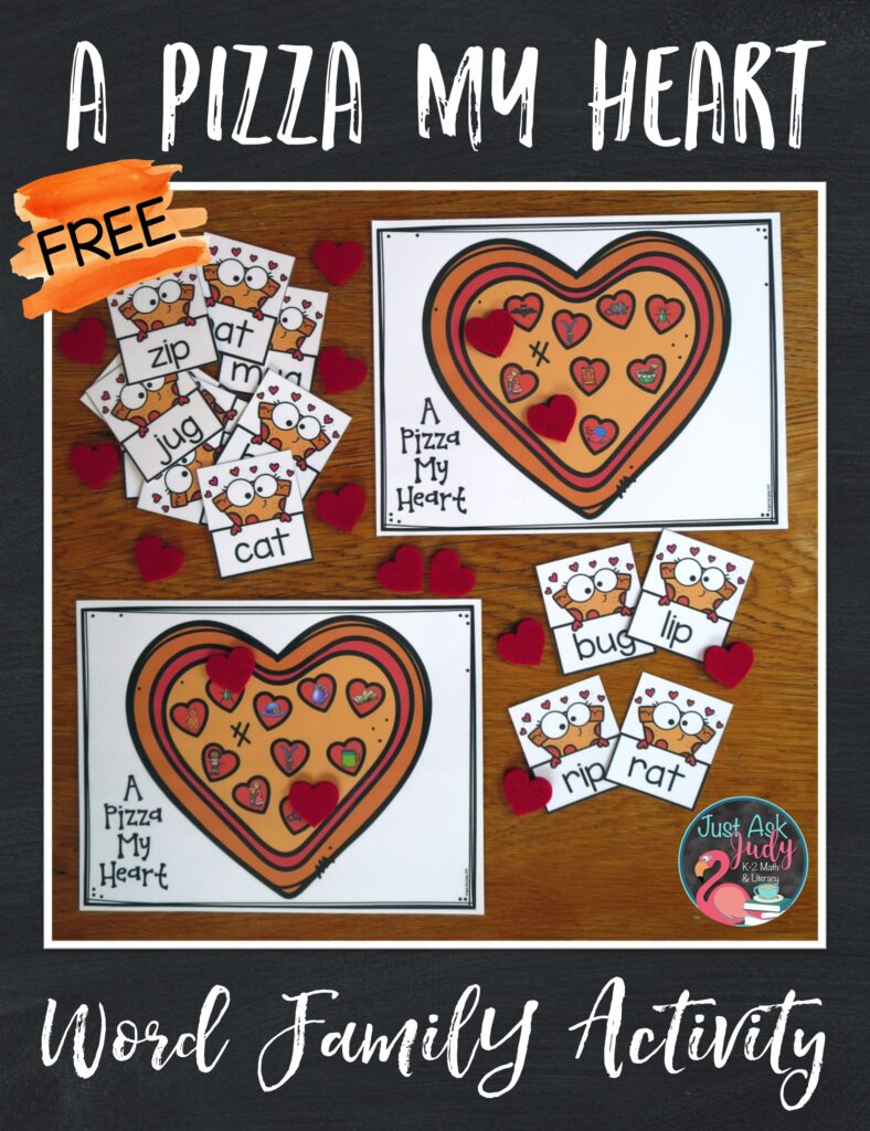Let your kindergarten and first-grade students practice reading CVC words with this free engaging pizza-themed activity for word families!