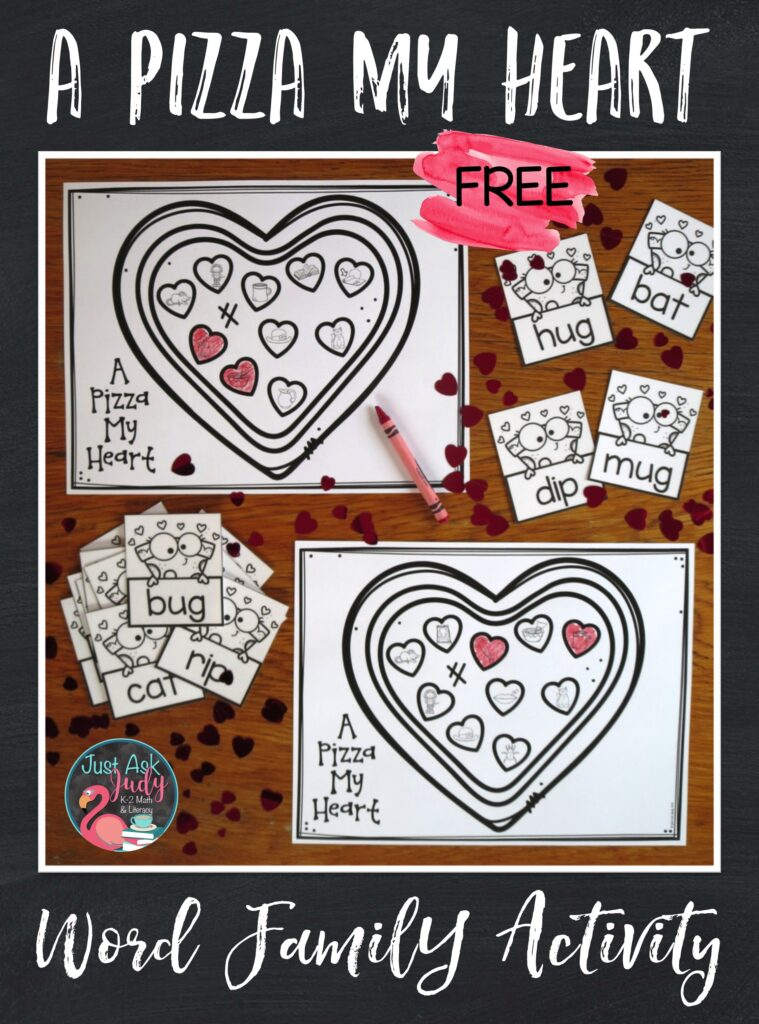 Click to download this free pizza-themed activity. Give your kindergarteners and first-graders the opportunity to decode CVC words with the –at, -ip, and –ug spelling patterns while having a bit of fun!